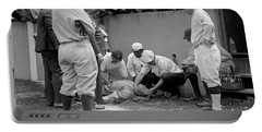 Babe Ruth Knocked Out By A Wild Pitch Portable Battery Charger