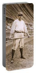 Babe Ruth On Deck Portable Battery Charger by Jon Neidert