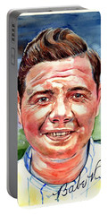 Babe Ruth Portrait Portable Battery Charger