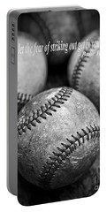 Babe Ruth Quote Portable Battery Charger by Edward Fielding
