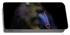 Baboon Portrait Portable Battery Charger
