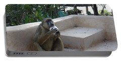 Baboon With A Sweet Tooth Portable Battery Charger