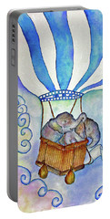 Baby Blue Elephants Portable Battery Charger