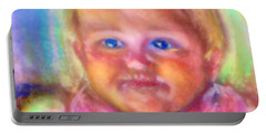 Portable Battery Charger featuring the photograph Baby Blue Eyes by Shirley Moravec