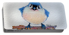 Baby Bluebird Portable Battery Charger by Marcia Baldwin