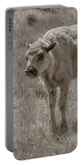 Portable Battery Charger featuring the photograph Baby Buffalo by Rebecca Margraf