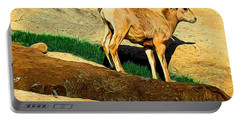 Baby Desert Bighorn In Abstract Portable Battery Charger