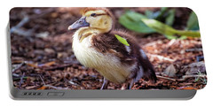 Baby Duck Sitting Portable Battery Charger by Stephanie Hayes