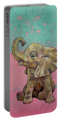 Baby Elephant Portable Battery Charger by Michael Creese