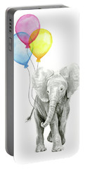 Baby Elephant With Baloons Portable Battery Charger