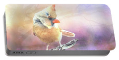 Baby Female Cardinal In Springtime Portable Battery Charger