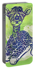 Baby Giraffe  -  Stylised Pop Art Poster Portable Battery Charger
