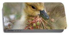 Baby Gosling Collecting Flowers Portable Battery Charger