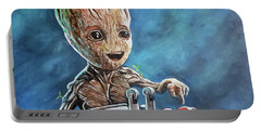 Baby Groot Portable Battery Charger by Tom Carlton