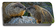 Baby Groundhogs Kissing Portable Battery Charger