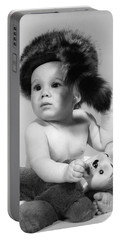 Baby In Coonskin Hat, C.1960s Portable Battery Charger by H. Armstrong Roberts/ClassicStock