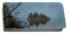 Baby Island In Willapa Bay Portable Battery Charger by E Faithe Lester