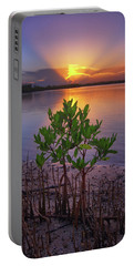 Baby Mangrove Sunset At Indian River State Park Portable Battery Charger by Justin Kelefas
