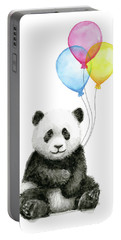 Baby Panda Watercolor With Balloons Portable Battery Charger