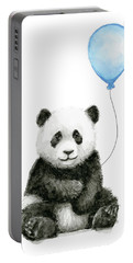 Baby Panda With Blue Balloon Watercolor Portable Battery Charger