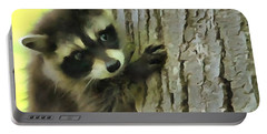 Baby Raccoon In A Tree Portable Battery Charger