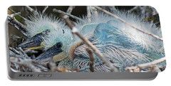 Baby Snowy Egrets Portable Battery Charger by Kenneth Albin