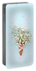 Baby's Breath Ice Cream Cone Portable Battery Charger