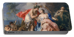 Bacchus And Ariadne Portable Battery Charger by Jacopo Amigoni