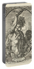 Bacchus God Of Ectasy Portable Battery Charger by R Muirhead Art