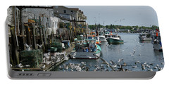 Portable Battery Charger featuring the photograph Back At The Dock by Lynda Lehmann