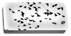 Back Birds In Flight Portable Battery Charger