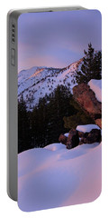 Portable Battery Charger featuring the photograph Back Country Glow by Sean Sarsfield