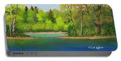 Portable Battery Charger featuring the painting Back Country Pond by Frank Wilson