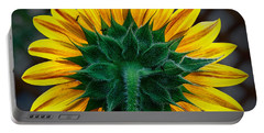 Back Of Sunflower Portable Battery Charger