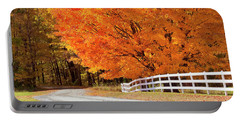 Back Road Autumn Maples Portable Battery Charger