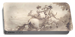 Back View Of A Centaur Abducting A Satyress Portable Battery Charger