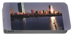 Backbay Boston Sunset In The Eighties Portable Battery Charger