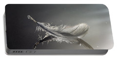 Backlit Feather Portable Battery Charger