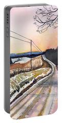 Backlit Roads Portable Battery Charger by Katherine Miller