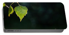 Portable Battery Charger featuring the photograph Backlit Shiny Leaf by Kennerth and Birgitta Kullman
