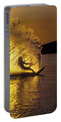 Backlit Waterskier  -  Part 3 Of 3 Portable Battery Charger