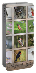 Portable Battery Charger featuring the photograph Backyard Birds by Lori Deiter
