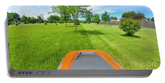 Portable Battery Charger featuring the photograph Backyard Mowing by Ricky L Jones