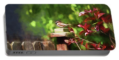 Backyard Songbird Portable Battery Charger by Bonnie Bruno