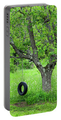 Backyard Spring Swing Portable Battery Charger by Alan L Graham