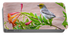 Portable Battery Charger featuring the photograph Backyard Verdin by Dan McManus