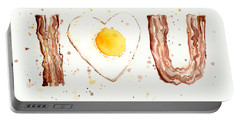 Bacon And Egg I Love You Portable Battery Charger