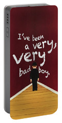 Bad Boy Greeting Card Portable Battery Charger by Thomas Blood