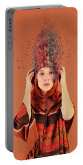 Bad Hair Day Portable Battery Charger