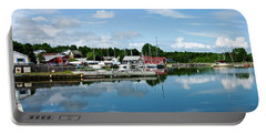 Baddeck Harbor Panorama Portable Battery Charger